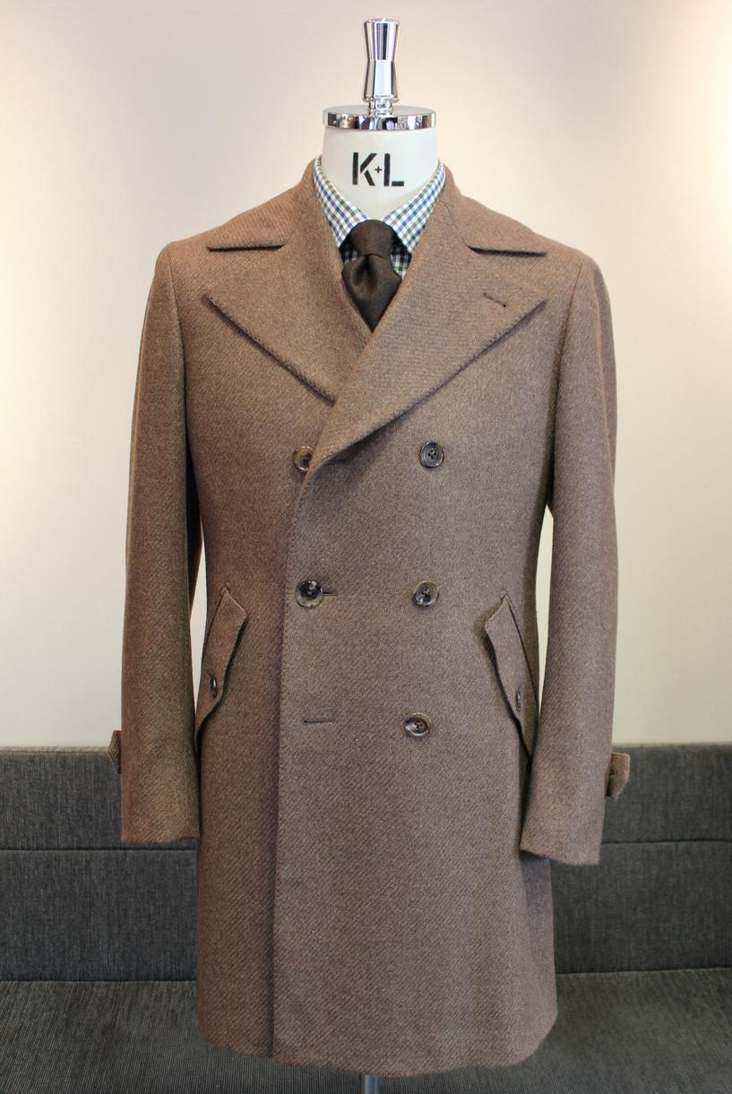 ULSTER COAT Model:BLACK LABEL Fabric:100%Cashmere