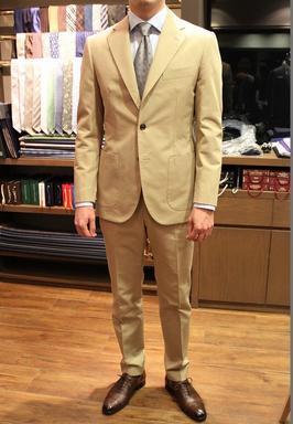 Model:HAND MADE MODEL Fabric:Caccioppoli 100%COTTON