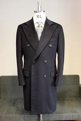 Model:BLACK LABEL DOUBLE CHESTER COAT Fabric:100%Cashmere