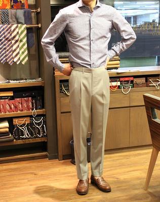 BESPOKE PANTS by OSAKU HAYATO Fabric:DRAPERS 100%Wool(Super110's)