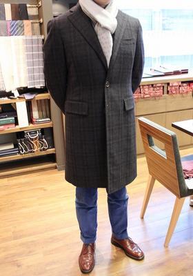 Model:BLACK LABEL SINGLE CHESTER COAT Fabric:100%Cashmere