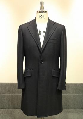 Model:BLACK LABEL SINGLE CHESTER COAT Fabric:LORO PIANA 100%Wool WINTER ZELANDER