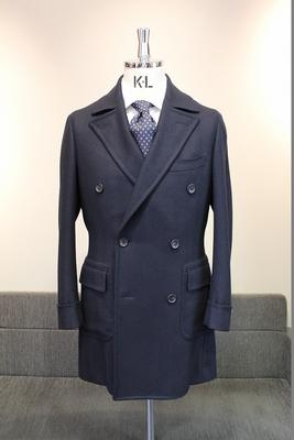Model:BLACK LABEL POLO COAT(SHORT) Fabric:100%Wool
