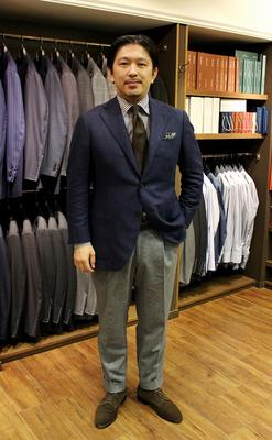 Model:BLACK LABEL COMFORT Fabric:LORO PIANA 100%Cashmere