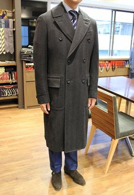 Model:BLACK LABEL POLO COAT Fabric:LORO PIANA WINTER ZELANDER 100%Wool