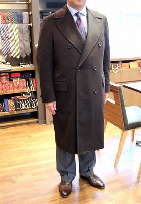 Model:BLACK LABEL POLO COAT Fabric:100%Cashmere