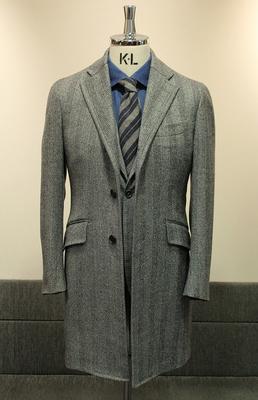 Model:BLACK LABEL SINGLE CHESTER COAT Fabric:LORO PIANA WINTER ZELANDER 100%Wool