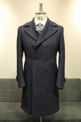 Model:BLACK LABEL DOUBLE ULSTER COAT Fabric:DRAPERS WOOL,SILK,BABYLLAMA,MOHAIR,POLIAMID