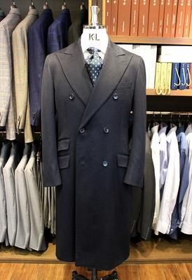 Model:BLACK LABEL DOUBLE CHESTER COAT Fabric:Ermenegildo Zegna 100%Cashmere
