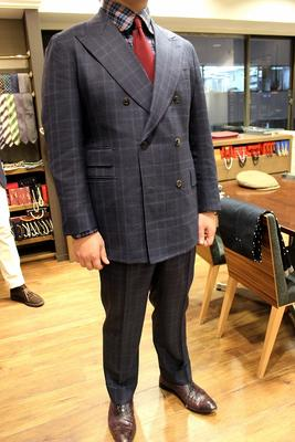 Jacket:BLACK LABEL CLASSIC Pants:BESPOKE PANTS by OSAKU HAYATO Fabric:DRAPERS FIVESTARS 100%Wool
