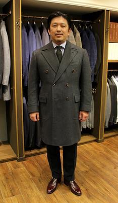 BESPOKE POLO COAT by SARTORIA CAVUTO Fabric:100%Cashmere(VINTAGE LORO PIANA)