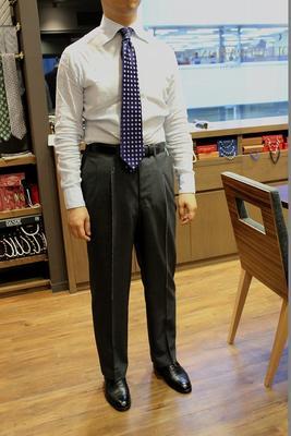 Bespoke Pants by Osaku Hayato Fabric:DRAPERS 100%Wool