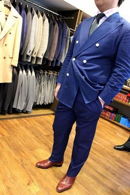 Jacket:BLACK LABEL CLASSIC Pants:BESPOKE PANTS by OSAKU HAYATO Fabric:DRAPERS 100%Cotton