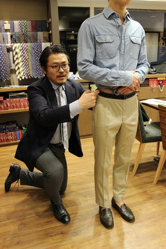 アップデートが素晴らしい!尾作隼人氏のビスポークパンツの仮縫い