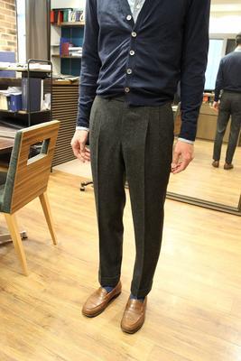 BESPOKE PANTS by OSAKU HAYATO Fabric:FOX BROTHERS 100%WoolFLANNEL
