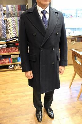 "Model:BLACK LABEL POLO COAT Fabric:LORO PIANA""ZELANDER""100%Wool"
