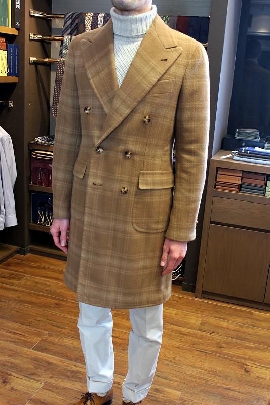素晴らしい仕上がりでお客様も大満足のビスポークコート