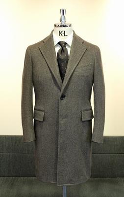 Model:BLACK LABEL SINGLE CHESTER COAT Fabric:LORO PIANA 100%CASHMERE