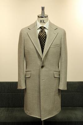 Model:BLACK LABEL SINGLE CHESTER COAT Fabric:LORO PIANA PECORA NERA