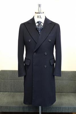 Model:BLACK LABEL DOUBLE CHESTER COAT Fabric:LORO PIANA WOOL&CASHMERE