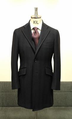 Model:BLACK LABEL SINGLE CHESTER COAT Fabric:LORO PIANA ZELANDER
