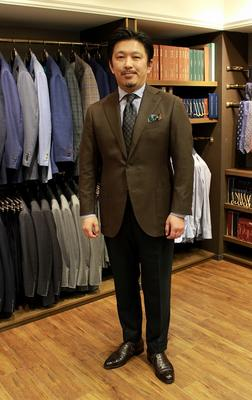 "Model:BLACK LABEL COMFORT Fabric:LORO PIANA ""PECORA NERA"""