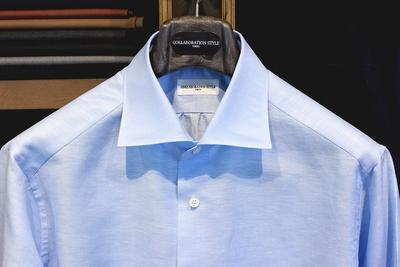MINAMI SHIRTS for COLLABORATION STYLE Fabric:CARLO RIVA Linen&Cotton