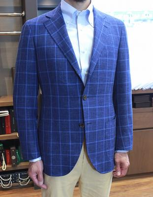 "Model:BLACK LABEL COMFORT Fabric:LORO PIANA ""SUMMERTIME"""