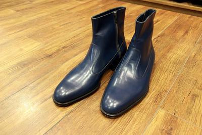 BESPOKE BOOTS by YUKI SHIRAHAMA BOTTIER Side zip-up boots