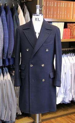Model:BLACK LABEL POLO COAT Fabric:BATEMAN OGDEN 100%Wool
