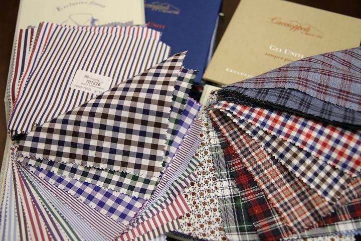 今シーズンもCACCIOPPOLIのシャツ生地が人気です!!!
