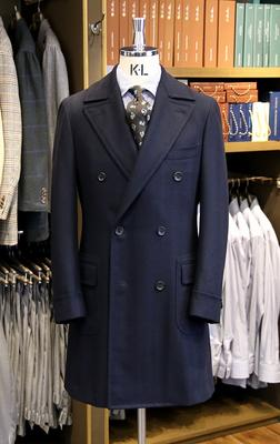 Model:Double Polo Coat FABRIC:Caccioppoli Wool&Cashmere