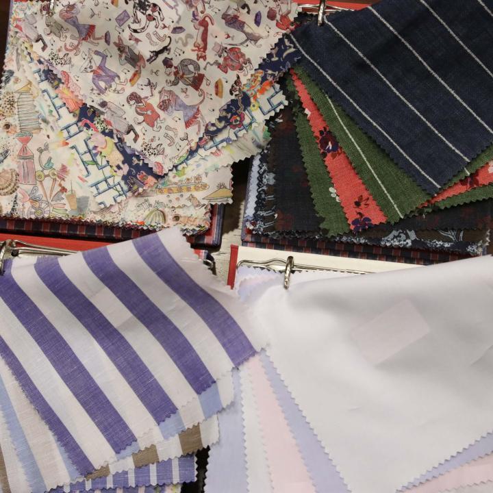 2019年春夏シーズンもCACCIOPPOLIのシャツ生地はキレイです!