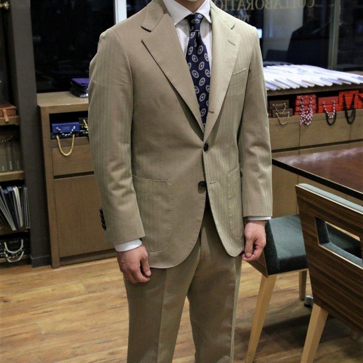 コットンソラーロのスーツ Fabric by Caccioppoli