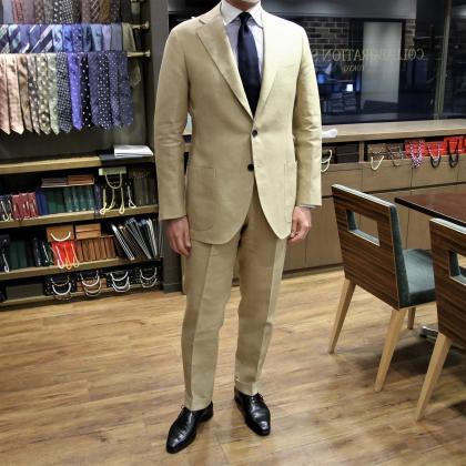 IRISH LINENのスーツ Fabric by W.BILL