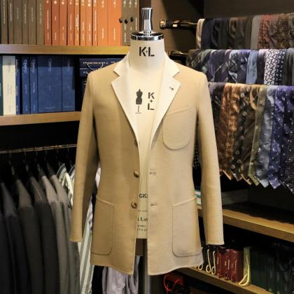 新アイテムのご紹介 一枚仕立てのビスポークジャケット&コート
