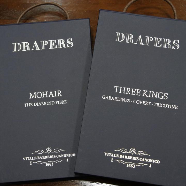 DRAPERSの2021年新作生地 MOHAIRとTHREE KINGS