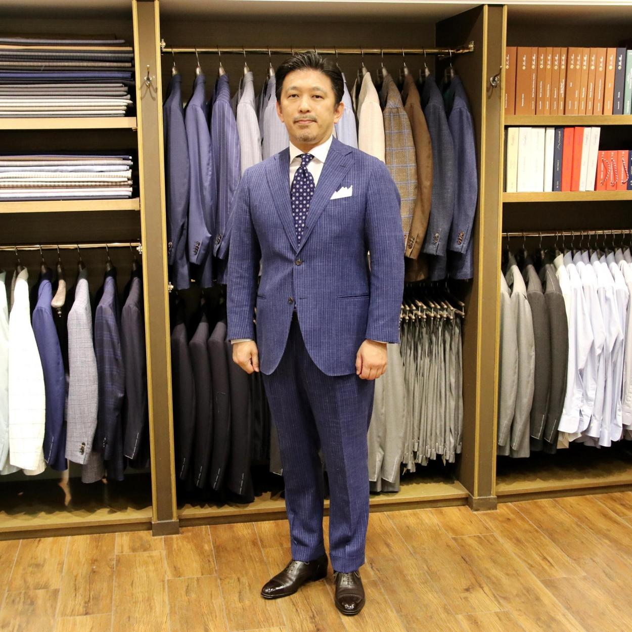 "MODEL:BLACK LABEL COMFORT FABRIC:LORO PIANA ""SUMMERTIME"" WOOL,SILK&LINEN"