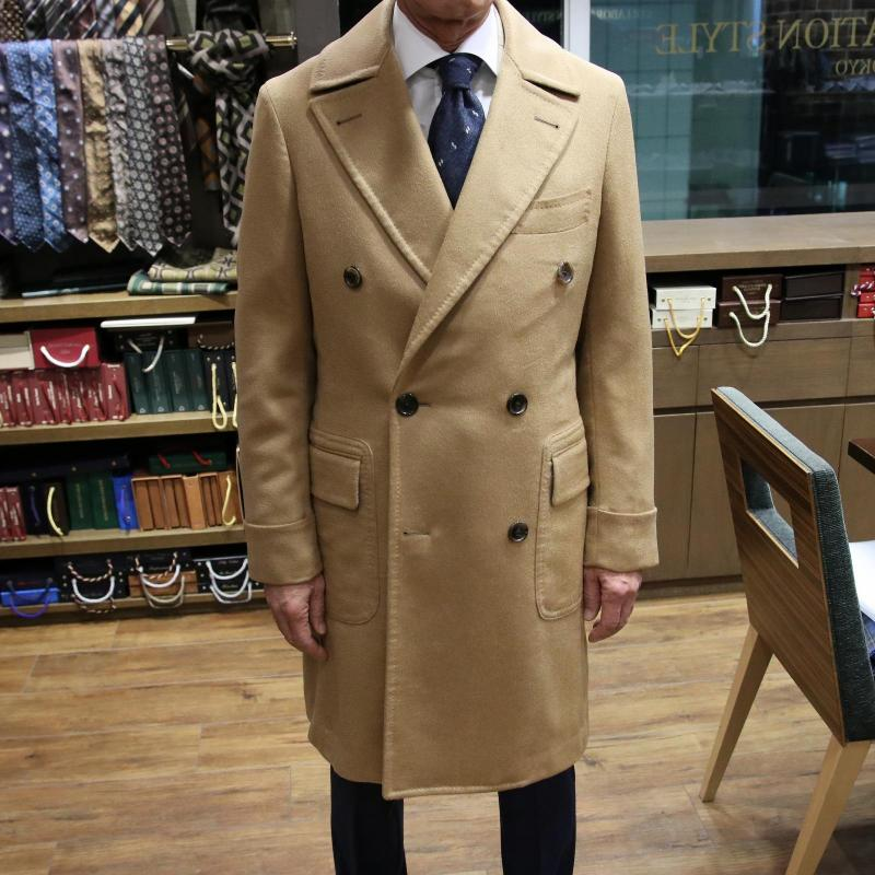 MODEL:POLO COAT FABRIC:DRAPERS CASHMERE&VICUNA