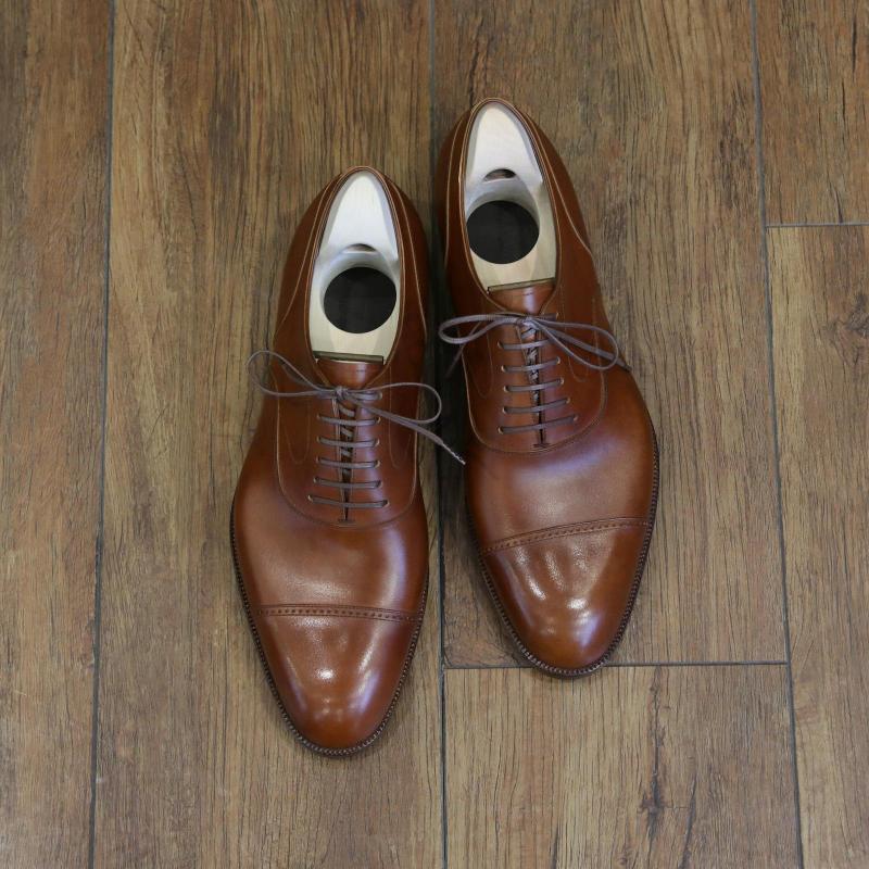 BESPOKE SHOES by YUKI SHIRAHAMA BOTTIER Punched cap toe